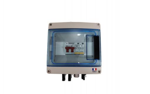 Coffret de protection DC photovoltaïque 1 MPPT - 600 V avec parafoudre