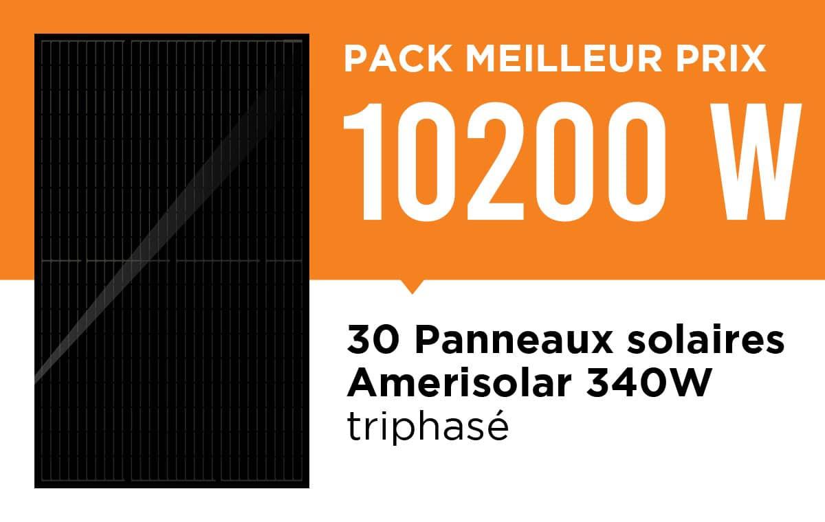 Kit solaire pas cher triphasé 10200Wc