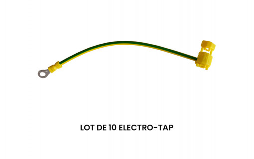 Lot de 10 Electro-tap jaune