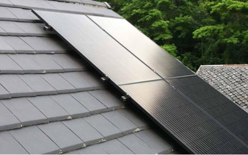 Exemple d'installation solaire sur toiture tuile