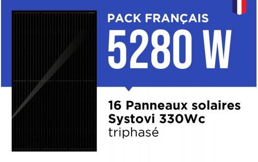 Kit Solaire Autoconsommation Français 5280W Triphasé - Onduleur Fronius