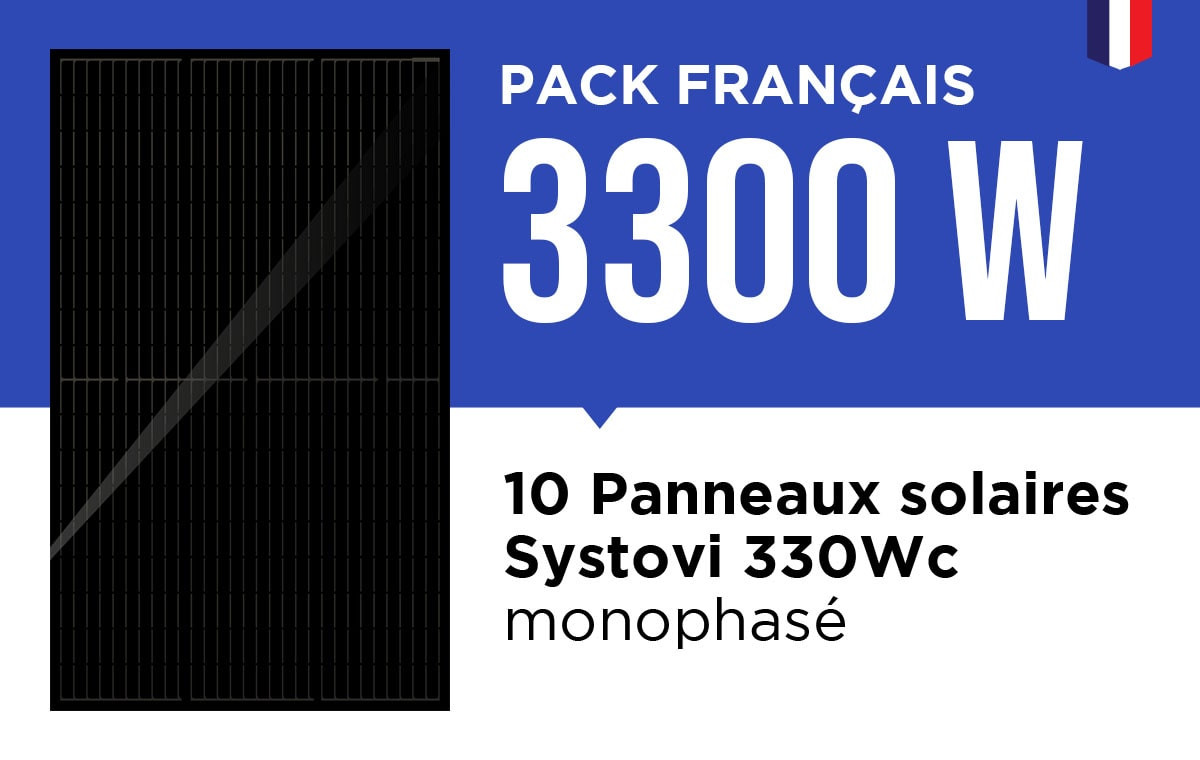 Kit Solaire Autoconsommation Français 3300W - Onduleur Fronius