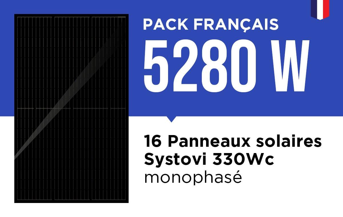 Kit Solaire Autoconsommation Français 5280W - Onduleur Fronius