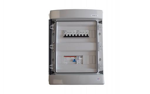 Coffret de protection AC Triphasé 9kWc ouvert