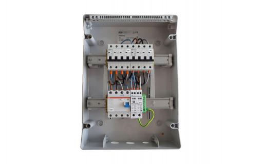 Coffret de protection AC Triphasé 9kWc câble électrique
