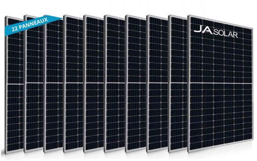 22 panneaux solaires JA Solar 405Wc