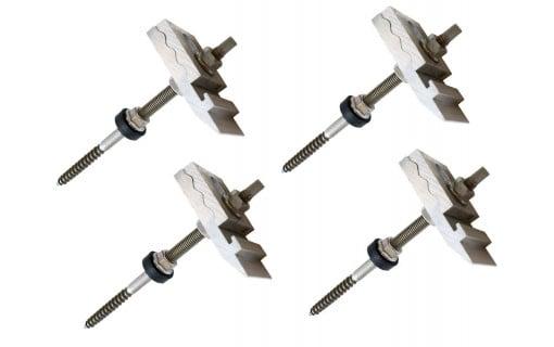 4 Crochets de fixation pour toiture en tôle ondulée