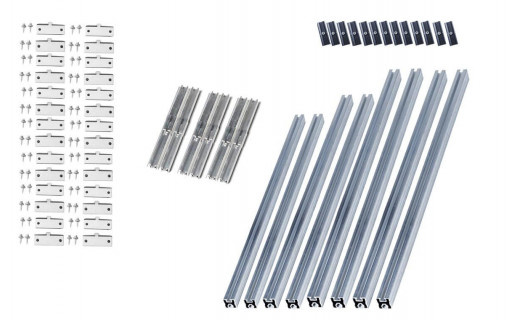 Kit de fixation Toiture Bac Acier 12 panneaux