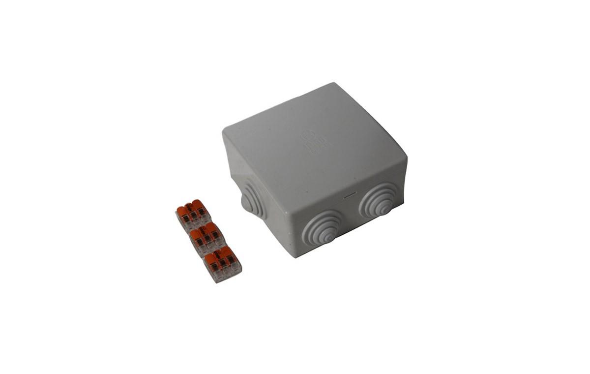 Boîtier de dérivation étanche IP65 + 3 wagos