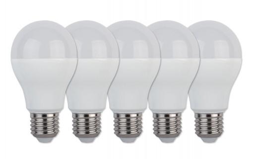 Lot de 5 ampoules A60 E27 10W Blanc Chaud