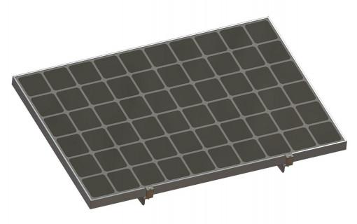 Kit de fixation brise soleil 4 panneaux solaires