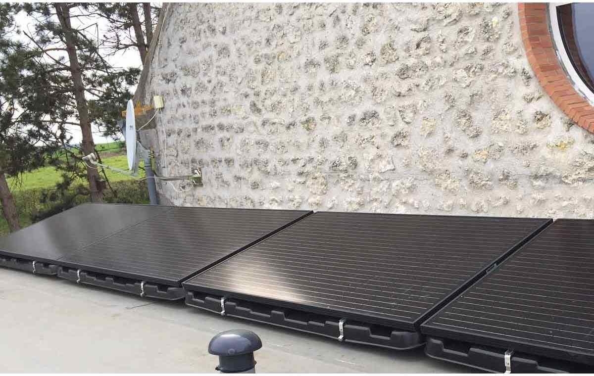 Bac à lester Renusol Consol+ 4 panneaux solaires