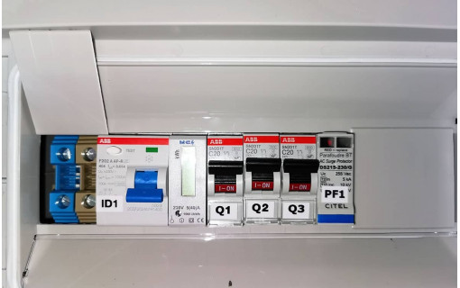Coffret de protection AC monophasé double 3kW
