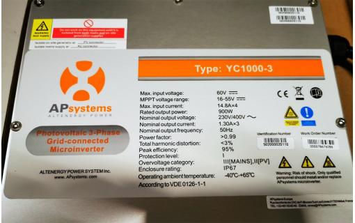 micro-onduleur aps triphase informations