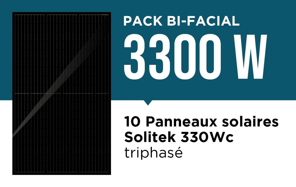 Pack bi facial triphasé 3300 wc
