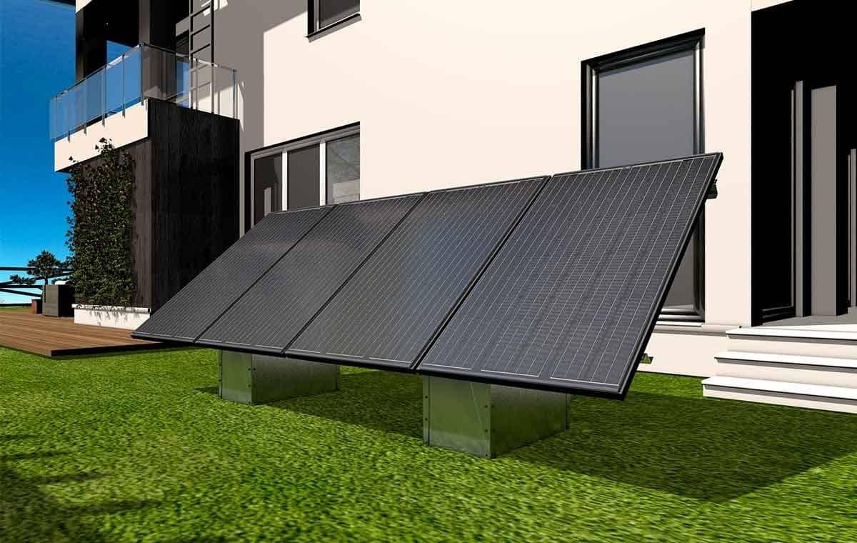 Fixation au sol du kit solaire