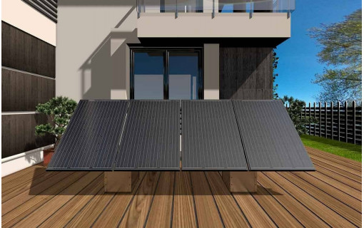 Fixation au sol du kit solaire 2 panneaux - GSE GroundSystem