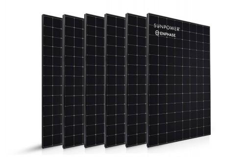 6 panneaux solaires Sunpower 400 Wc
