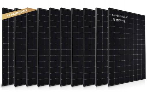 14 panneaux solaires Sunpower 400 Wc
