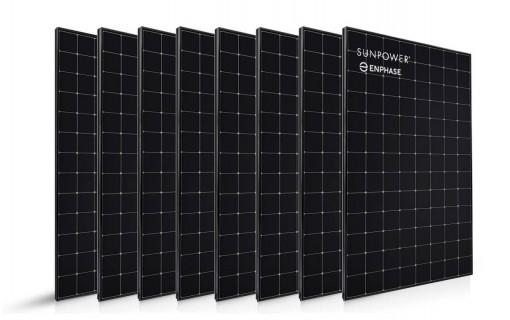 8 panneaux solaires Sunpower 400 Wc