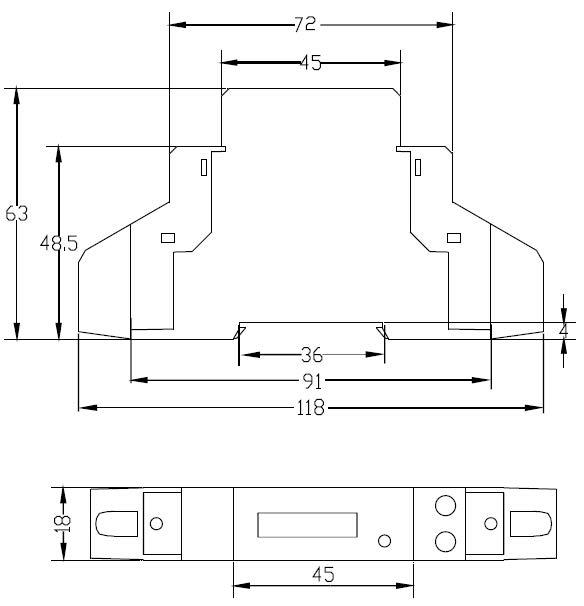 Dimensions Coffret de protection AC 3KW APS kit solaire