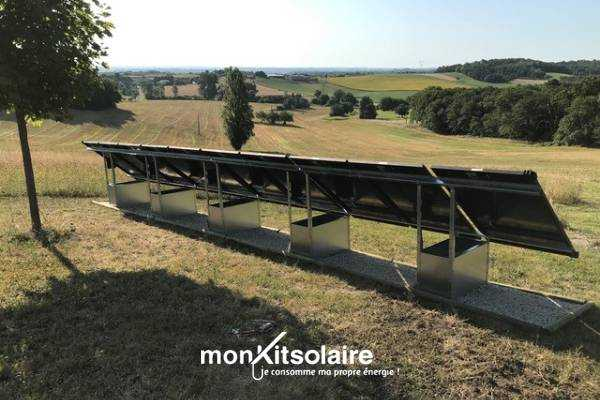 Installation du kit solaire sur GSE Ground System