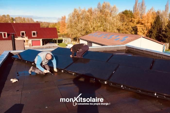 Ce client a posé lui-même son kit panneau solaire...