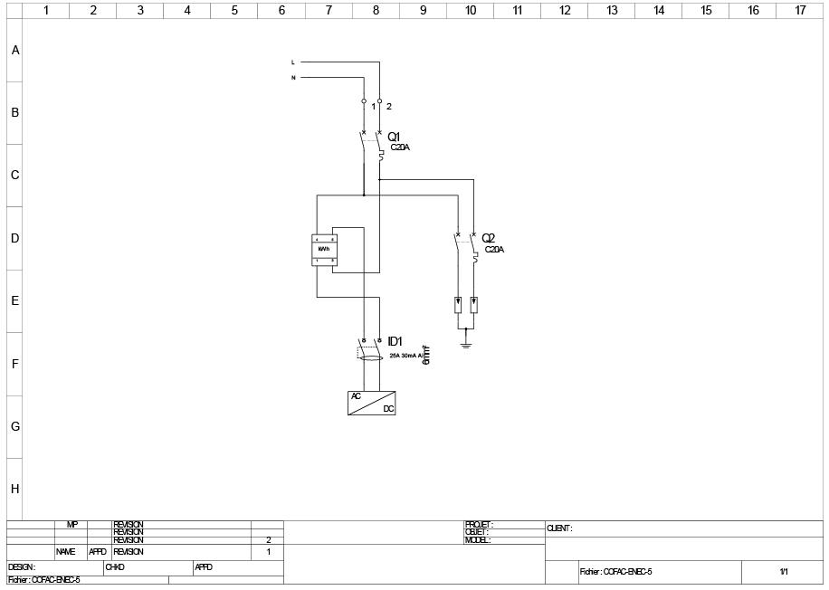 Schéma électrique du coffret