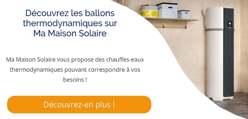 Ballon thermodynamique Ma Maison Solaire