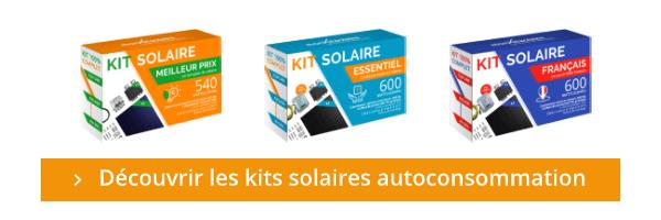 Découvrez également les kits panneaux solaires en autoconsommation