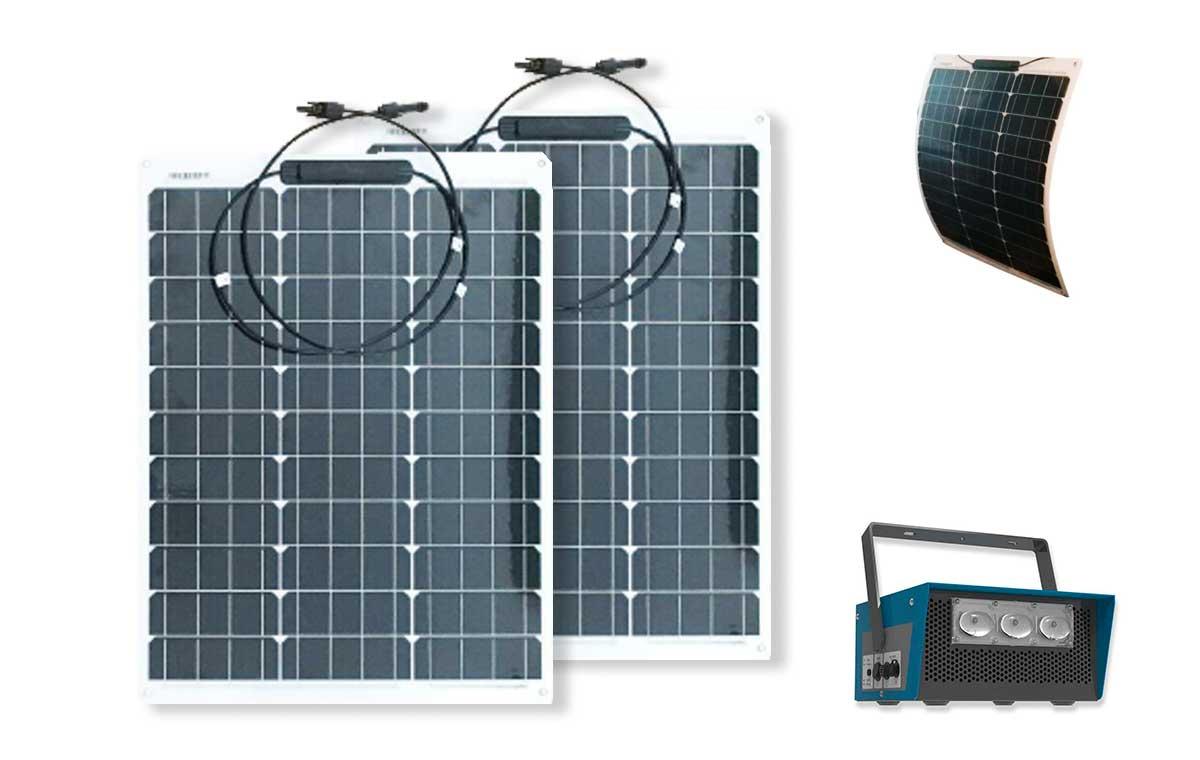 Box solaire nomade avec panneau souple