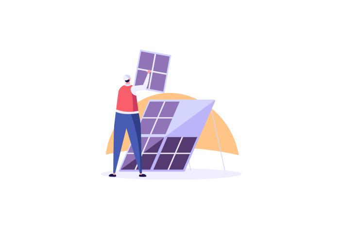 Installation du panneau solaire hybride