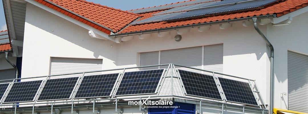 Panneau solaire balcon appartement