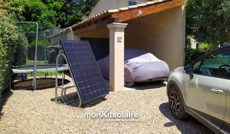 Installation du support de recharge solaire pour vélo électrique