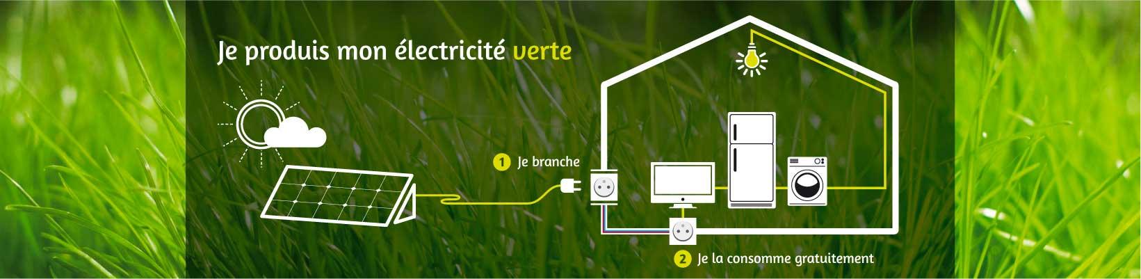 Je produis vert - Kit solaire autoconsommation