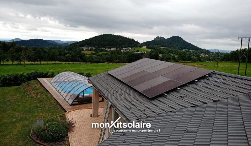 panneaux solaires sur toit de Stéphane