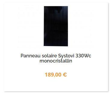 panneau-solaire-systovi-330W