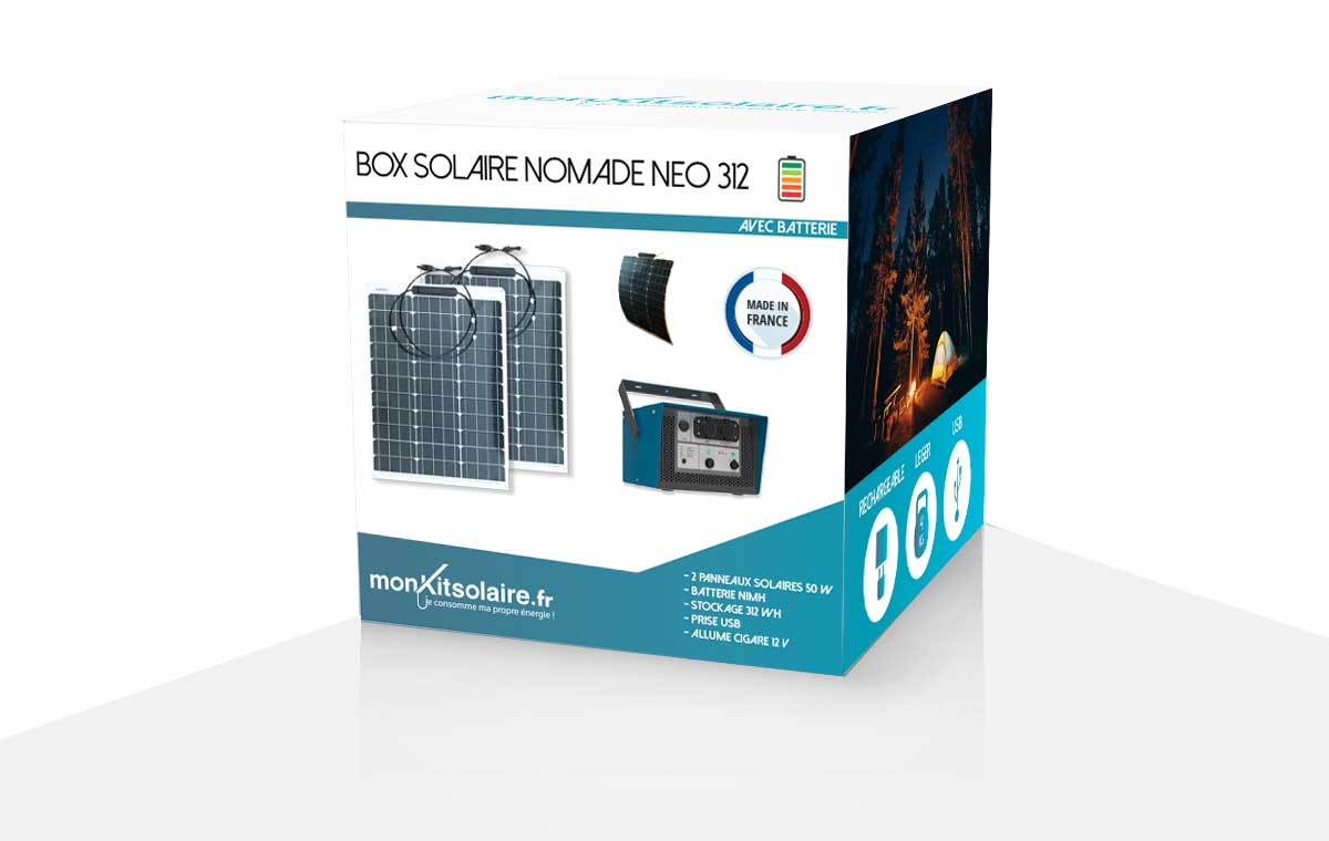 Box solaire nomade autoconsommation flexibles