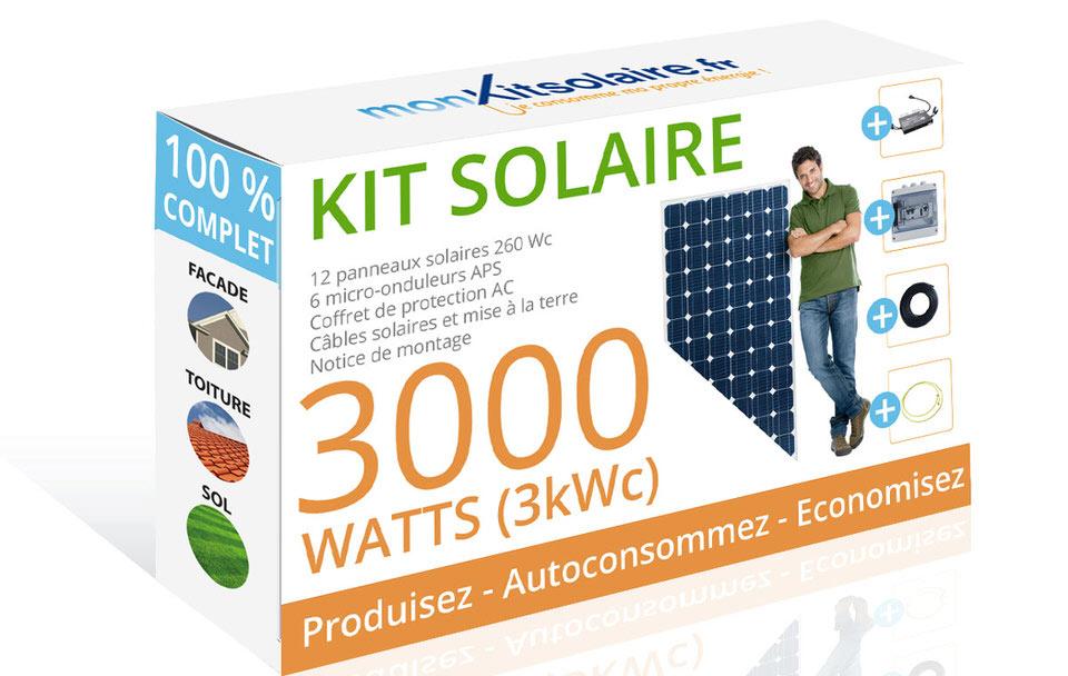 mon kit solaire kit solaire autoconsommation panneau solaire fran ais. Black Bedroom Furniture Sets. Home Design Ideas