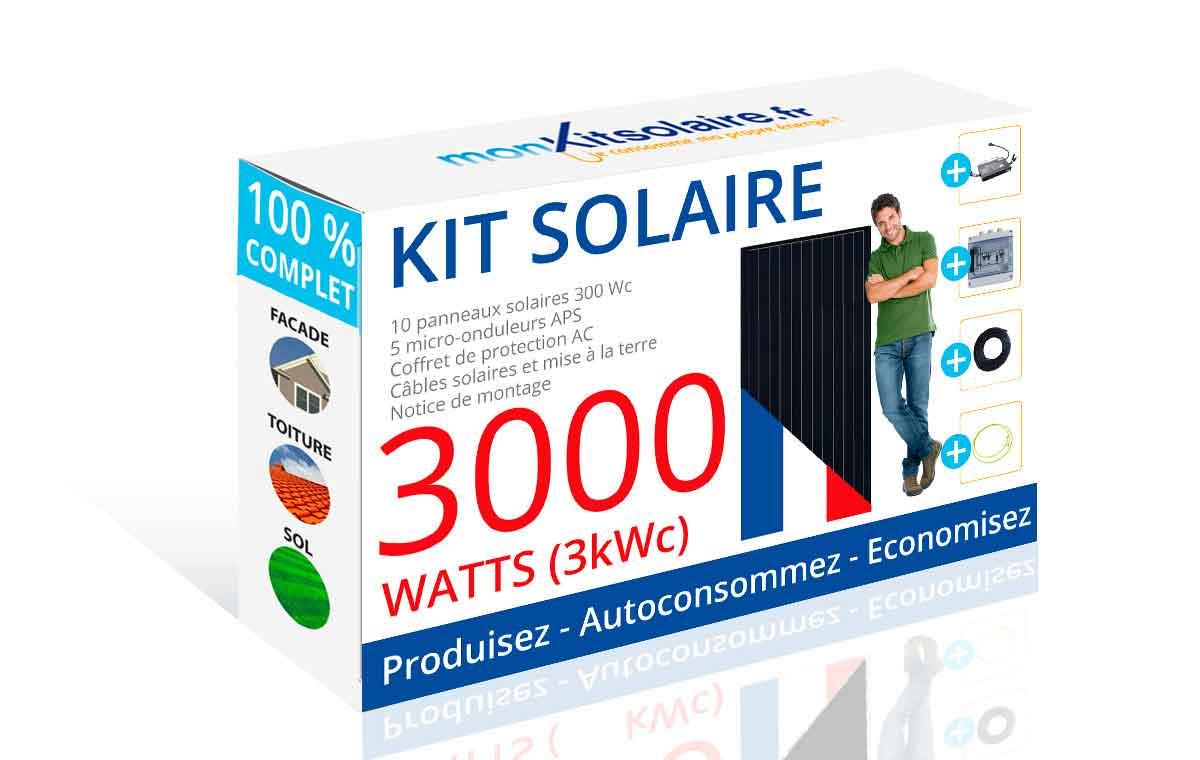 kit solaire autoconsommation fran ais 3000wc mon kit solaire. Black Bedroom Furniture Sets. Home Design Ideas
