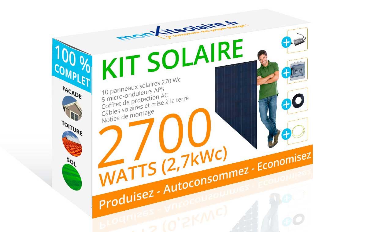 kit solaire autoconsommation 2500w mon kit solaire. Black Bedroom Furniture Sets. Home Design Ideas