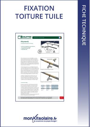 Fixation de type toiture tuile pour 4 panneaux photovolta ques - Etancheite cheminee toiture fiche technique ...