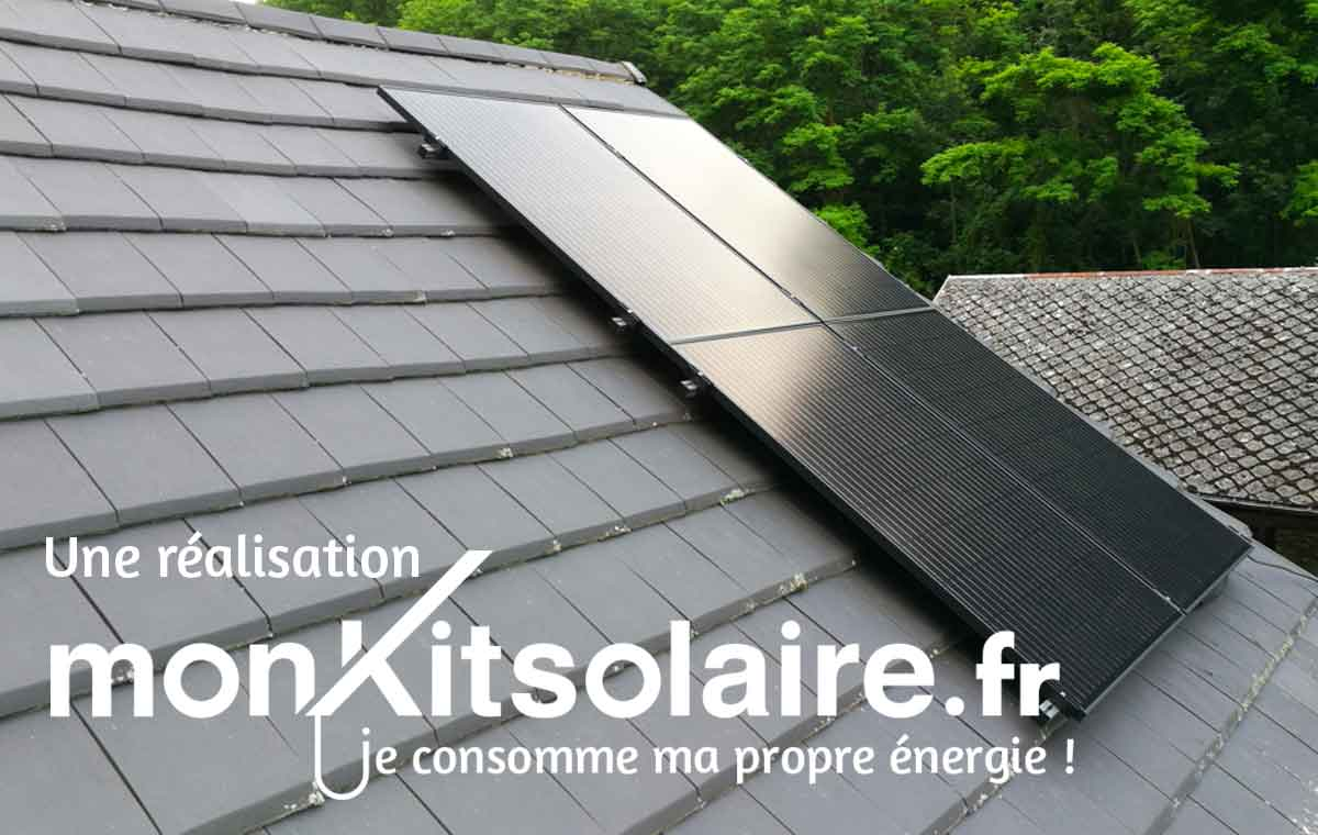 Pose kit solaire sur ardoise
